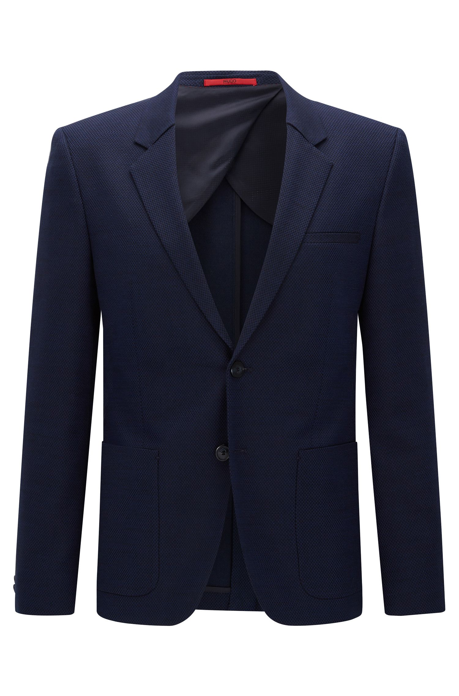 Slim-fit suit jacket in stretch fabric