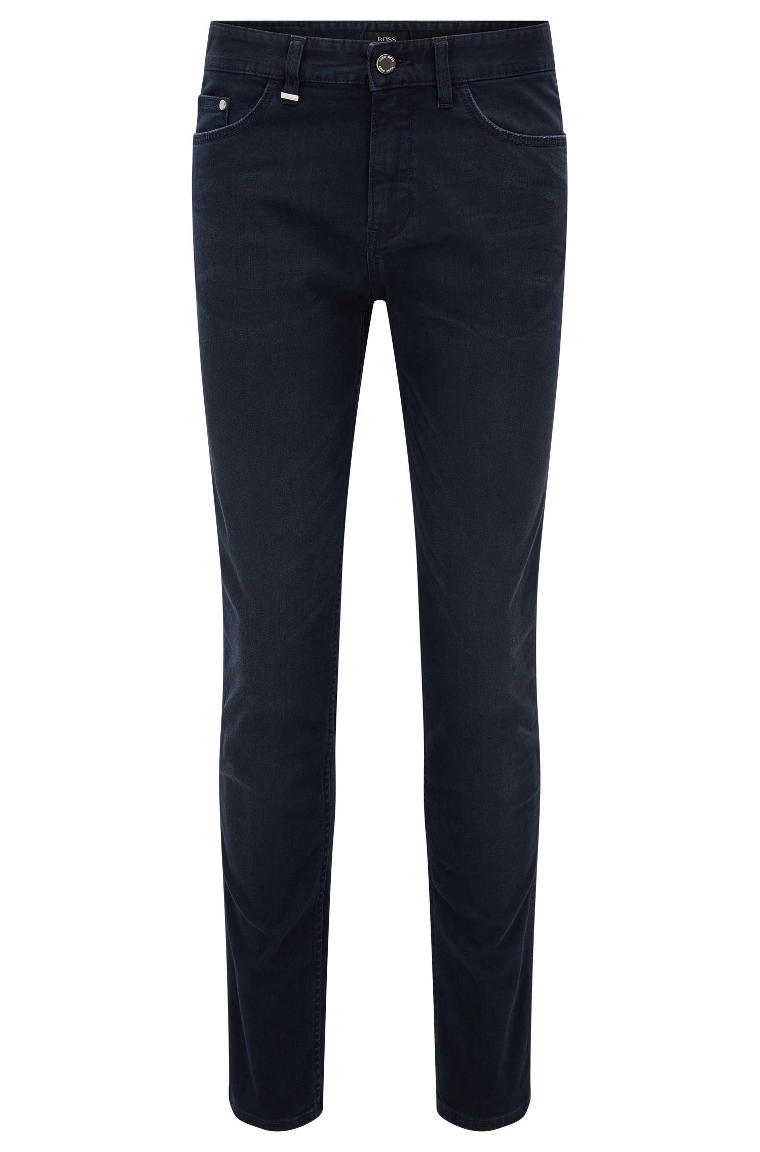 Jeans slim fit in denim elasticizzato blu-grigio