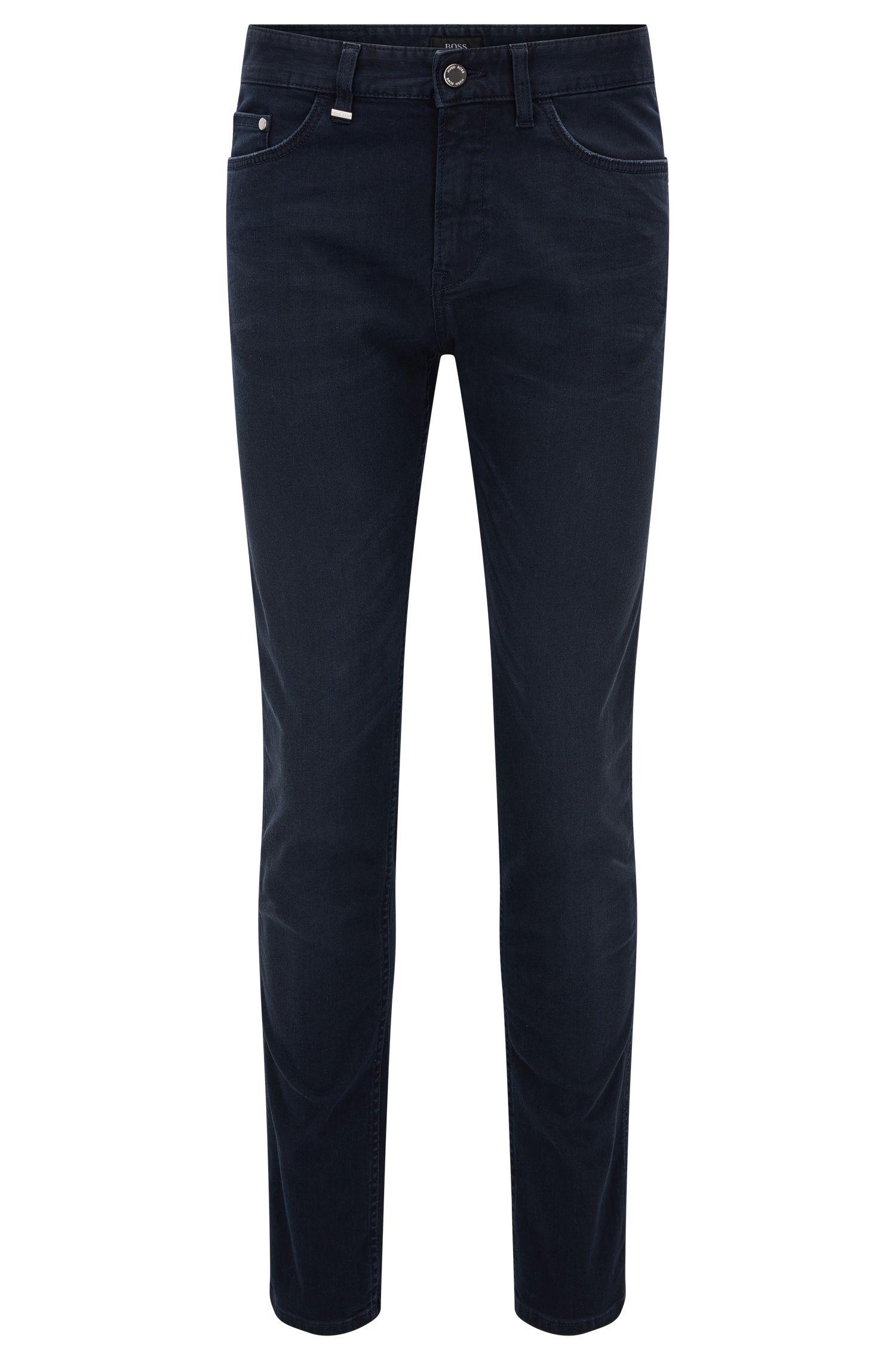 Slim-fit jeans van stretchdenim in grijs-blauw