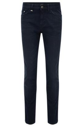 Jeans Slim Fit en denim stretch, gris-bleu, Bleu foncé