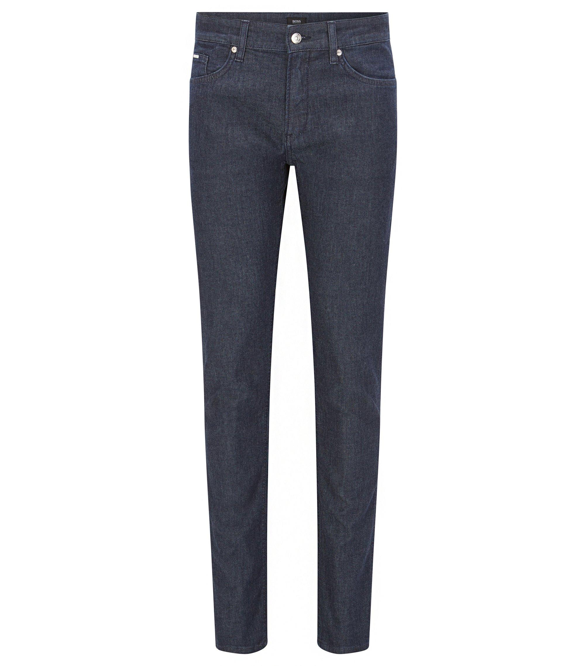 Slim-fit donkerblauwe jeans van stretchdenim , Donkerblauw
