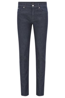 Slim-fit dark blue jeans in stretch denim , Dark Blue