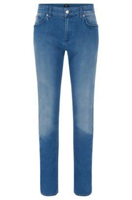 Slim-fit jeans van fijn Italiaans stretchmateriaal, Blauw