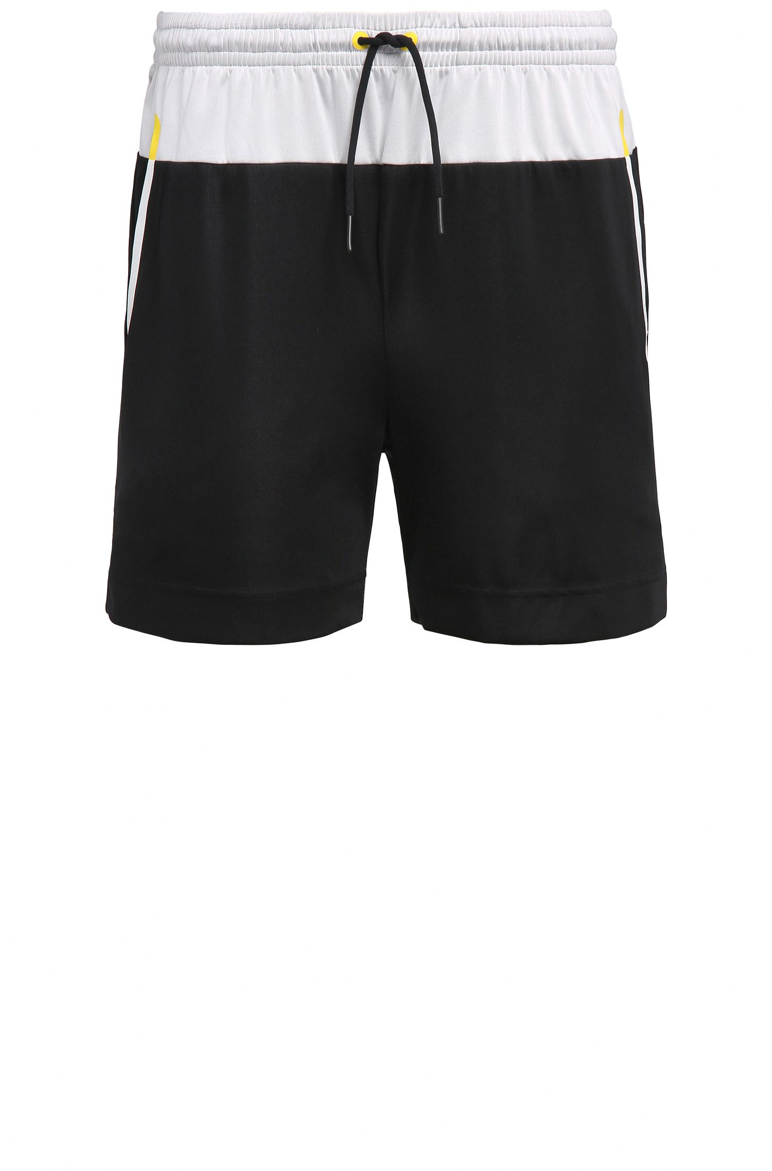 Slim-Fit Shorts aus elastischem Material-Mix