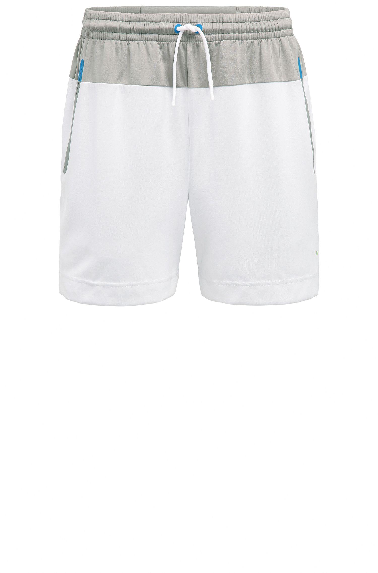 Pantaloncini corti slim fit in tessuto tecnico elastico