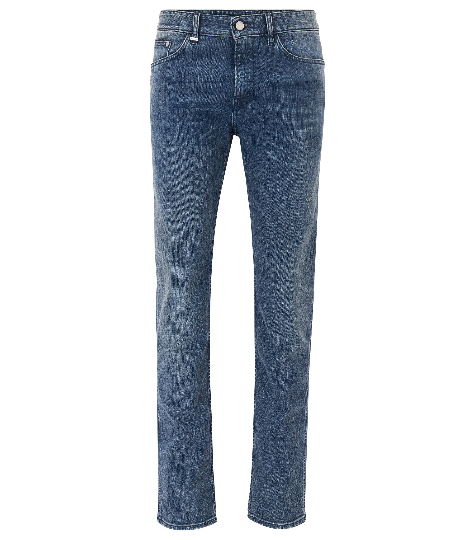 Jeans slim fit in denim elasticizzato, Blu scuro