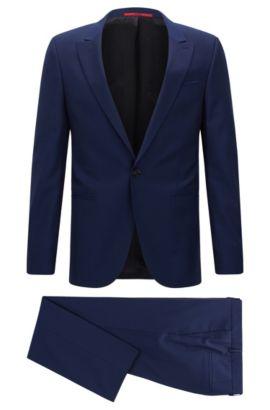 Costume extra Slim Fit en laine vierge, Bleu vif