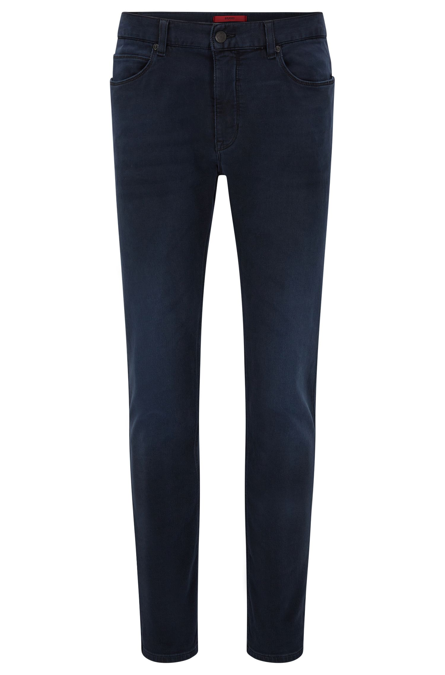 Skinny-fit jeans van jerseydenim