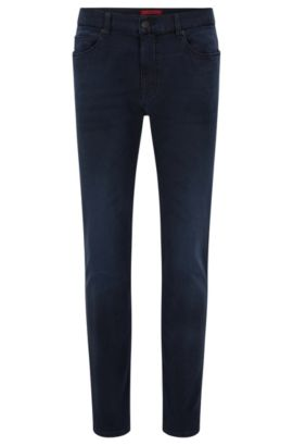 Jeans skinny fit in jersey di denim, Blu scuro