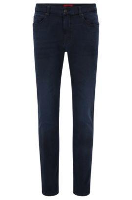 Skinny-fit jeans van jerseydenim, Donkerblauw