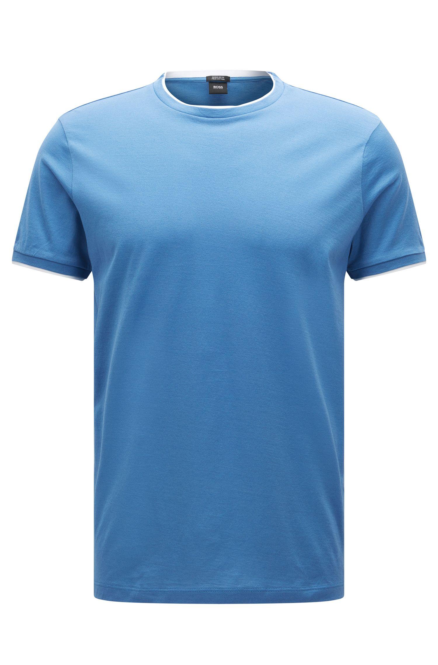 Relaxed-Fit T-Shirt aus Pima-Baumwolle im Lagen-Look