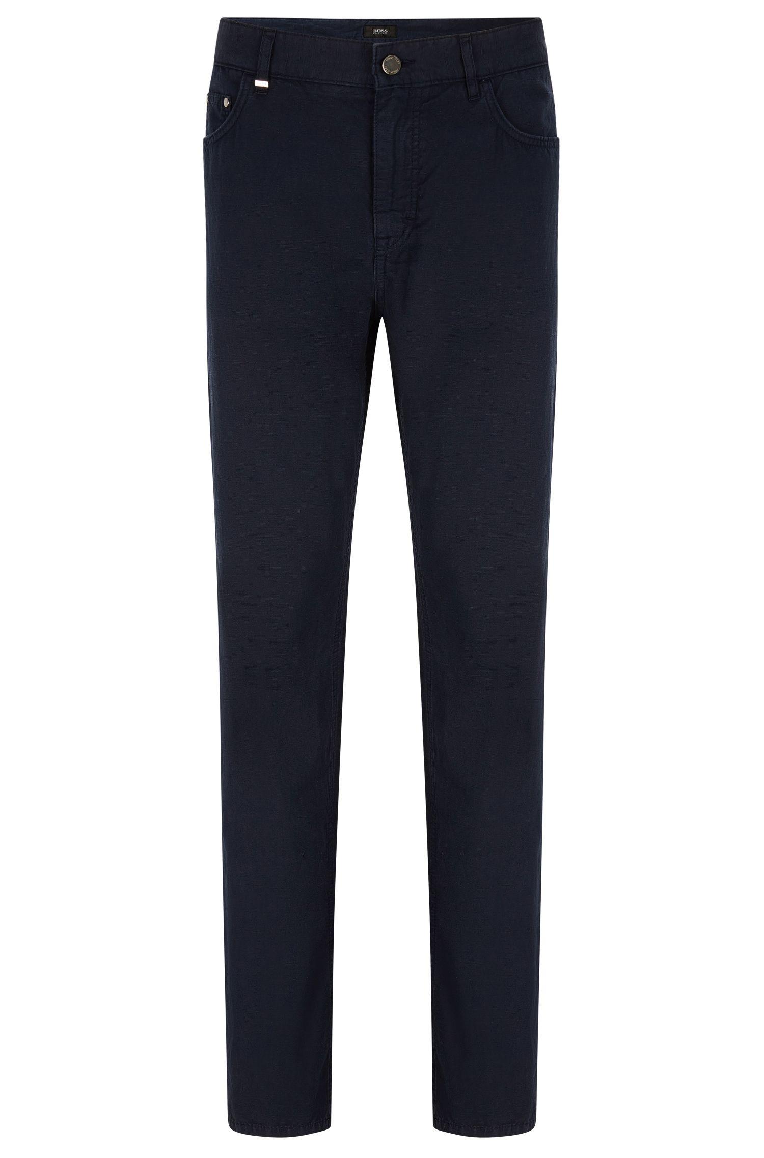 Jeans Relaxed fit en coton et lin mélangés
