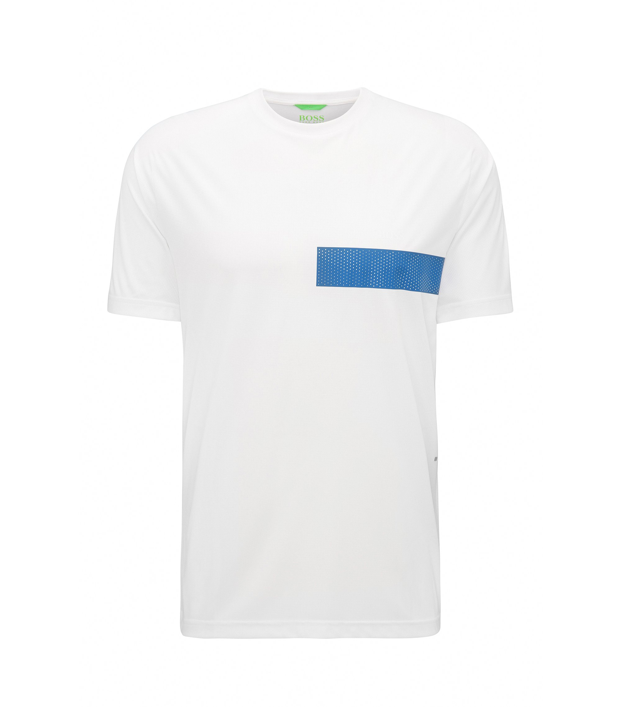 T-shirt Slim Fit en tissu technique, Blanc