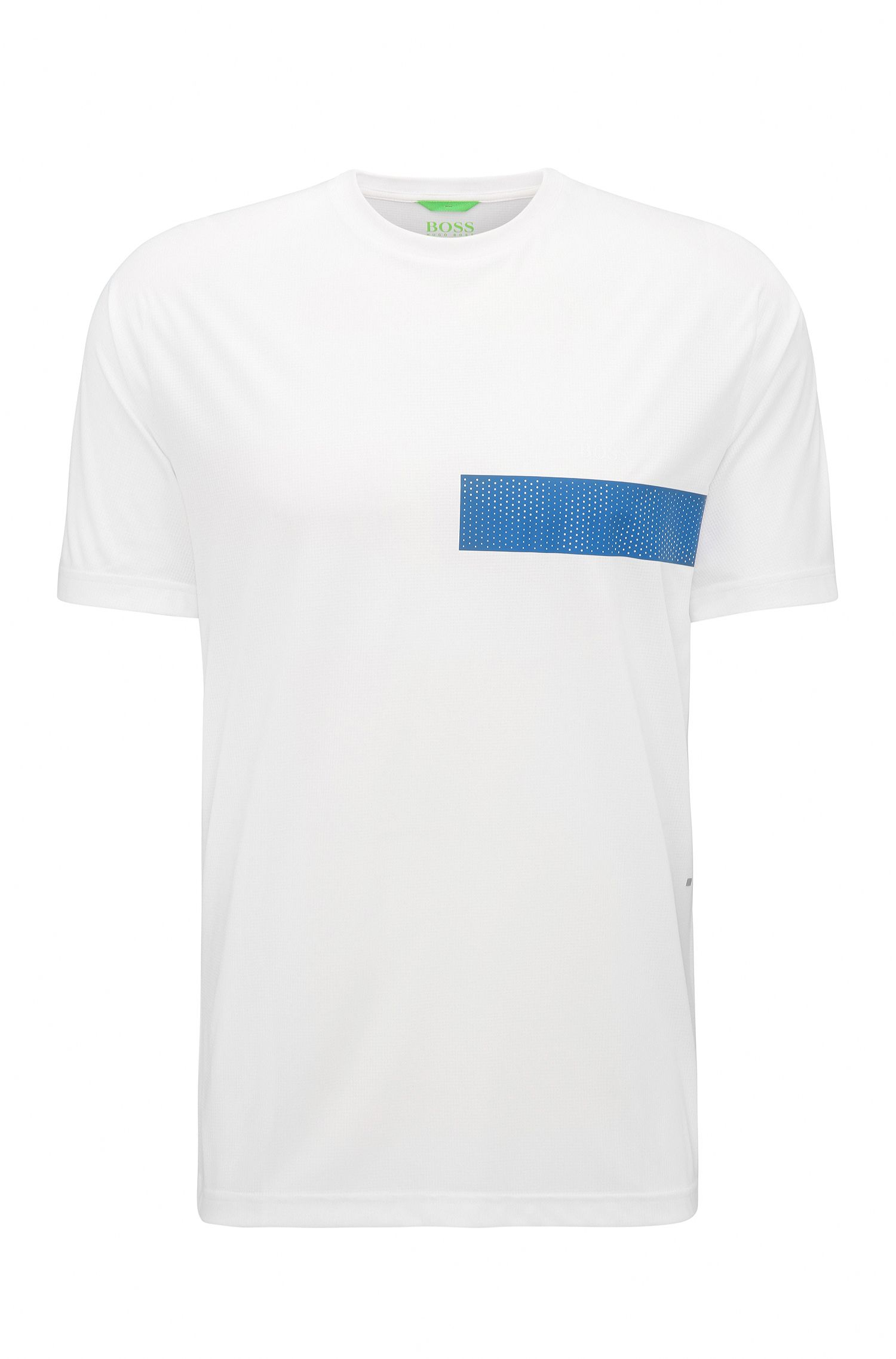 Slim-Fit T-Shirt aus Material-Mix