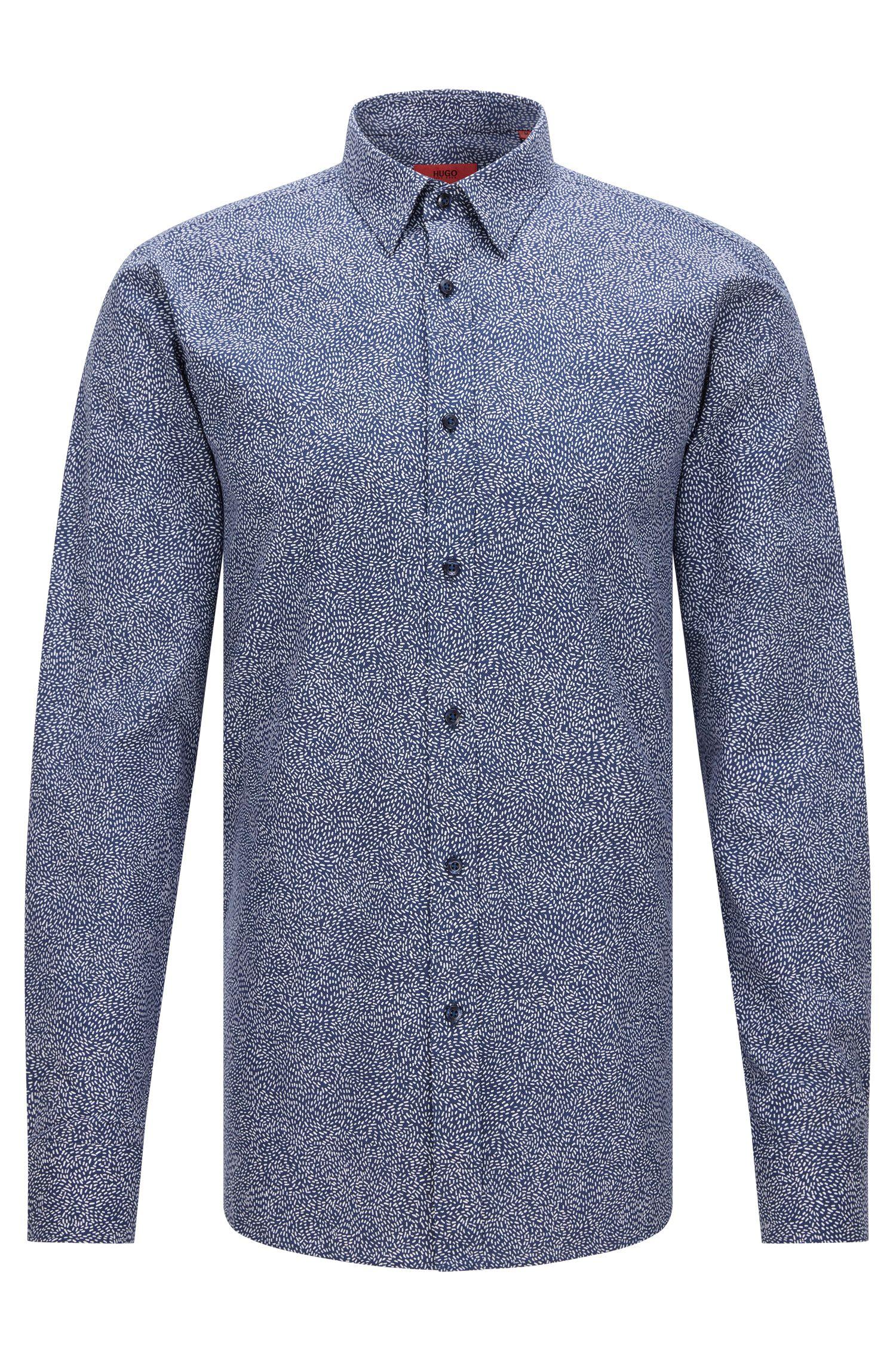 Slim-fit overhemd met micro-seizoensprint