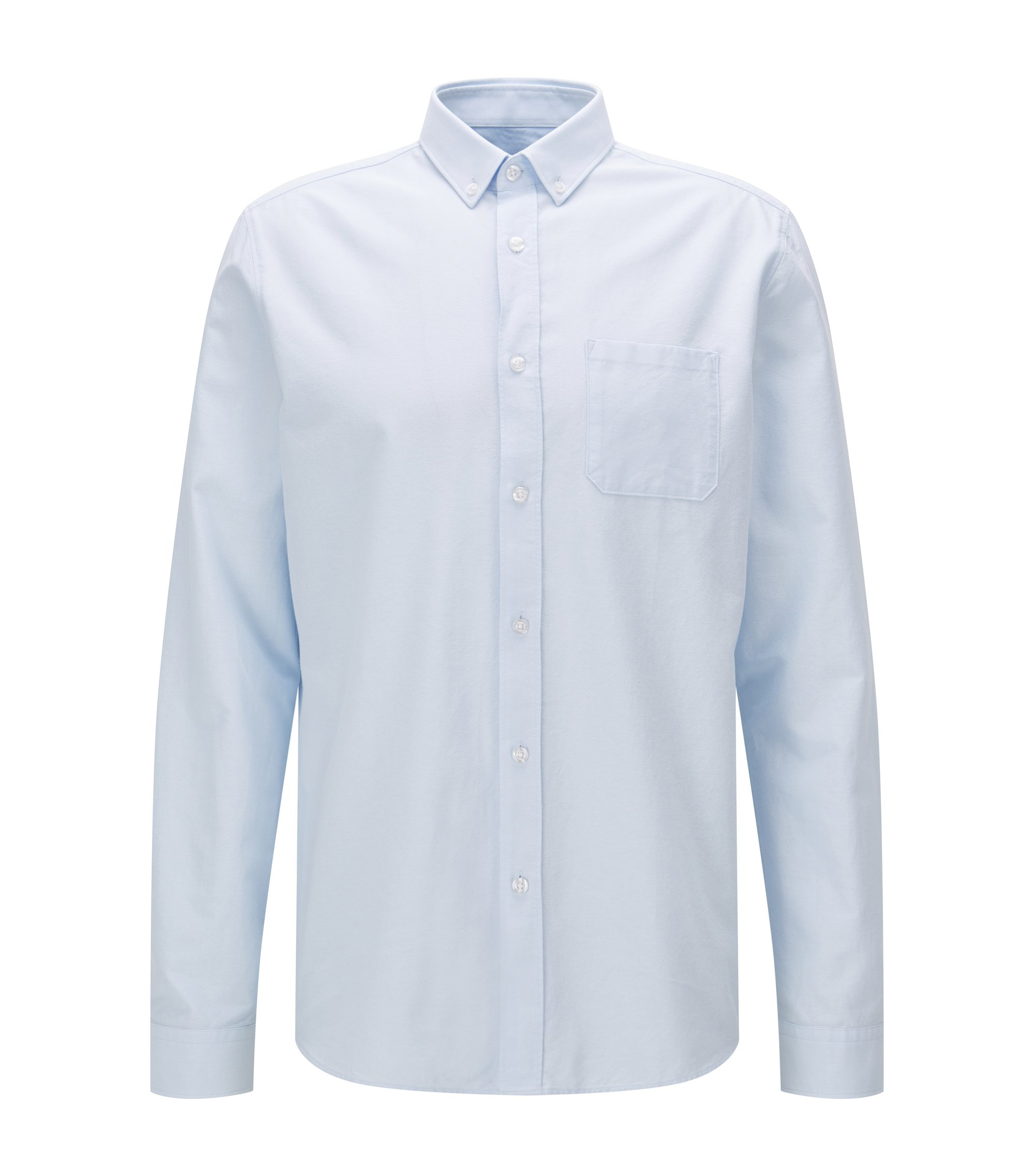 Relaxed-fit Oxfordoverhemd van gewassen katoen, Lichtblauw