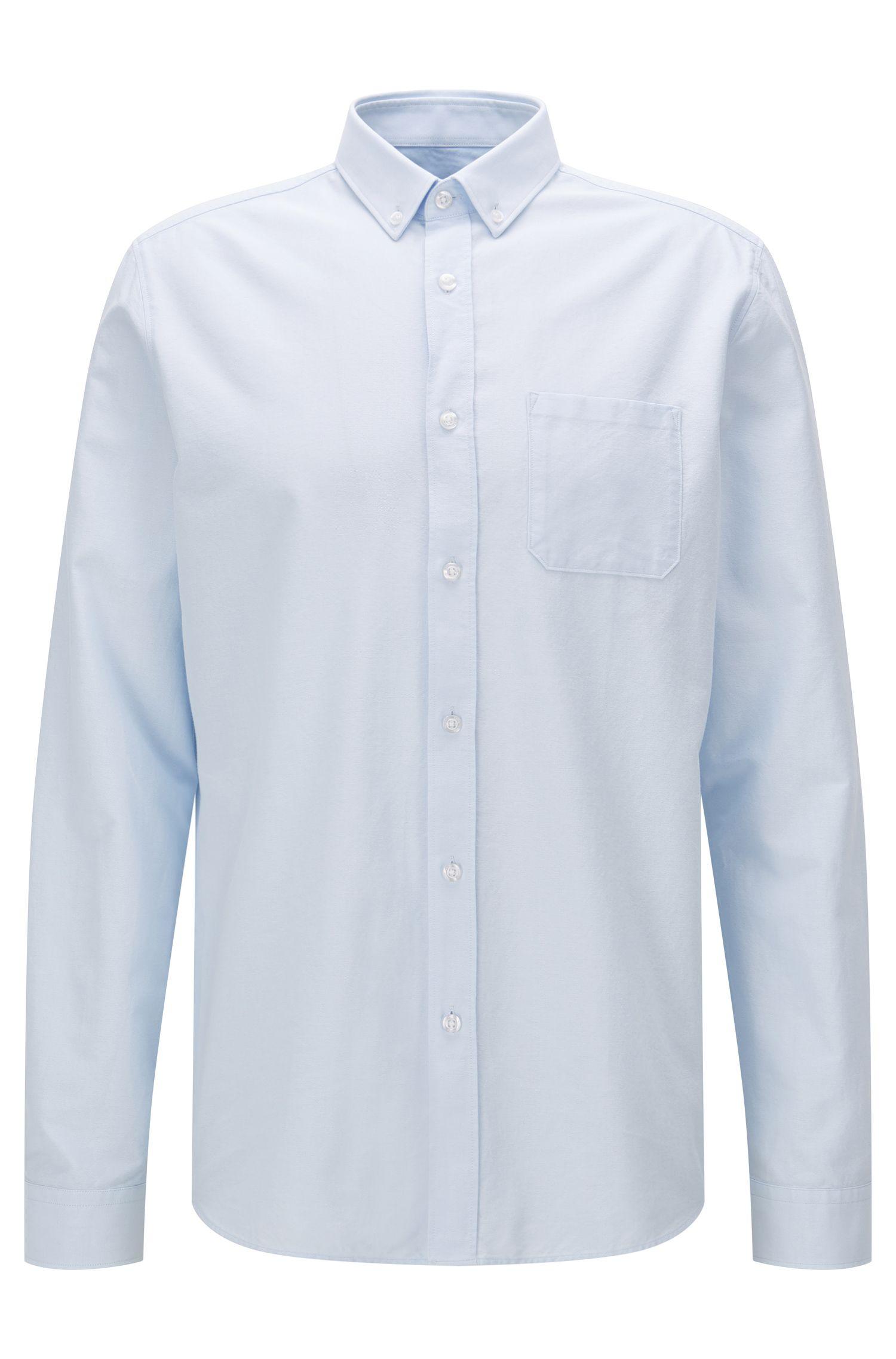 Camisa tipo Oxford relaxed fit en algodón lavado