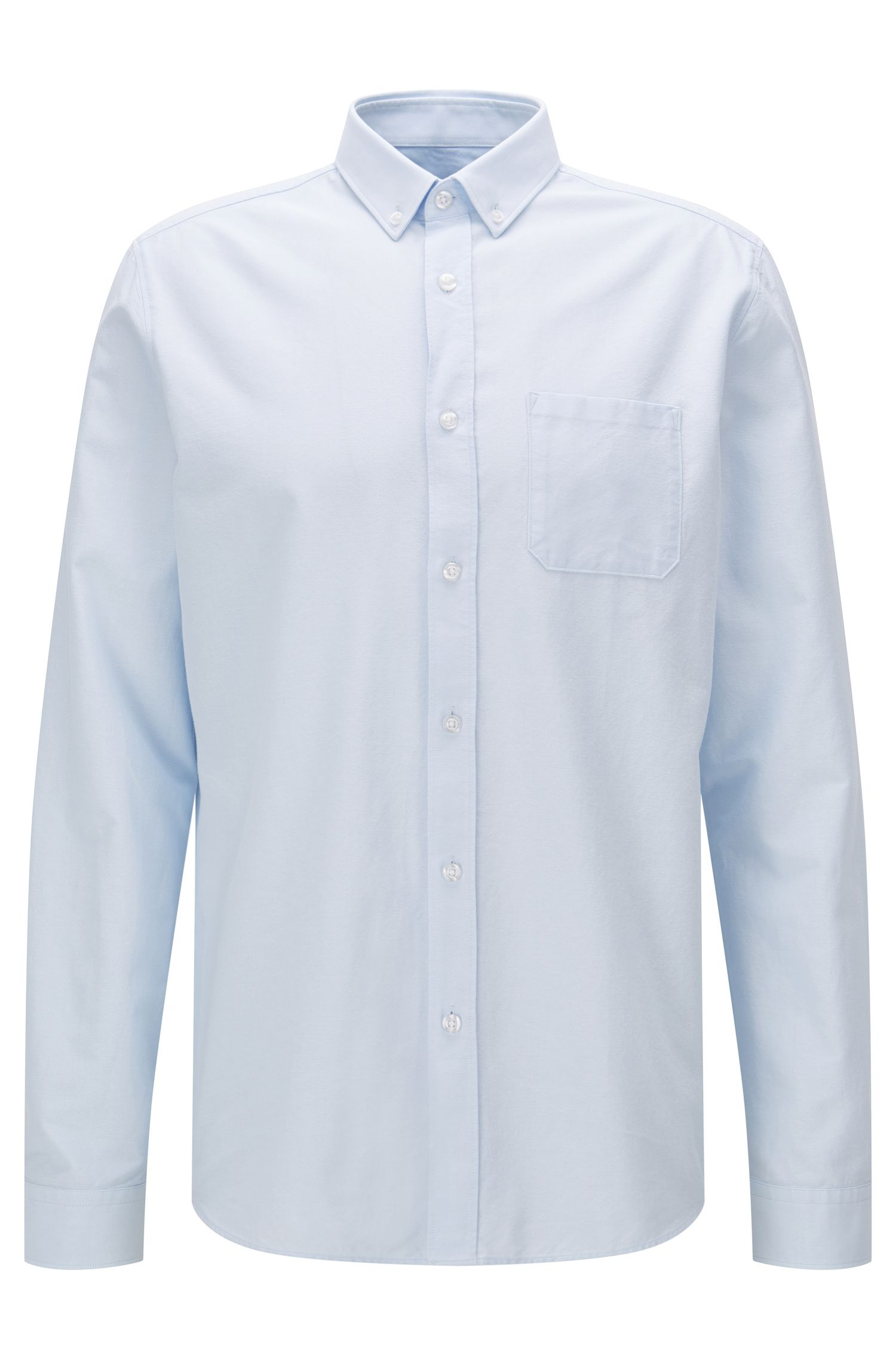 Relaxed-fit Oxford shirt in washed cotton