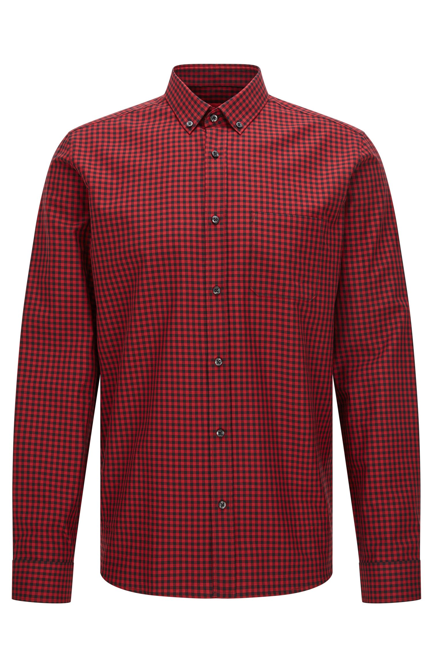 Relaxed-fit shirt in cotton with Vichy check