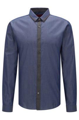 Camisa extra slim fit en diferentes tonos denim, Azul oscuro