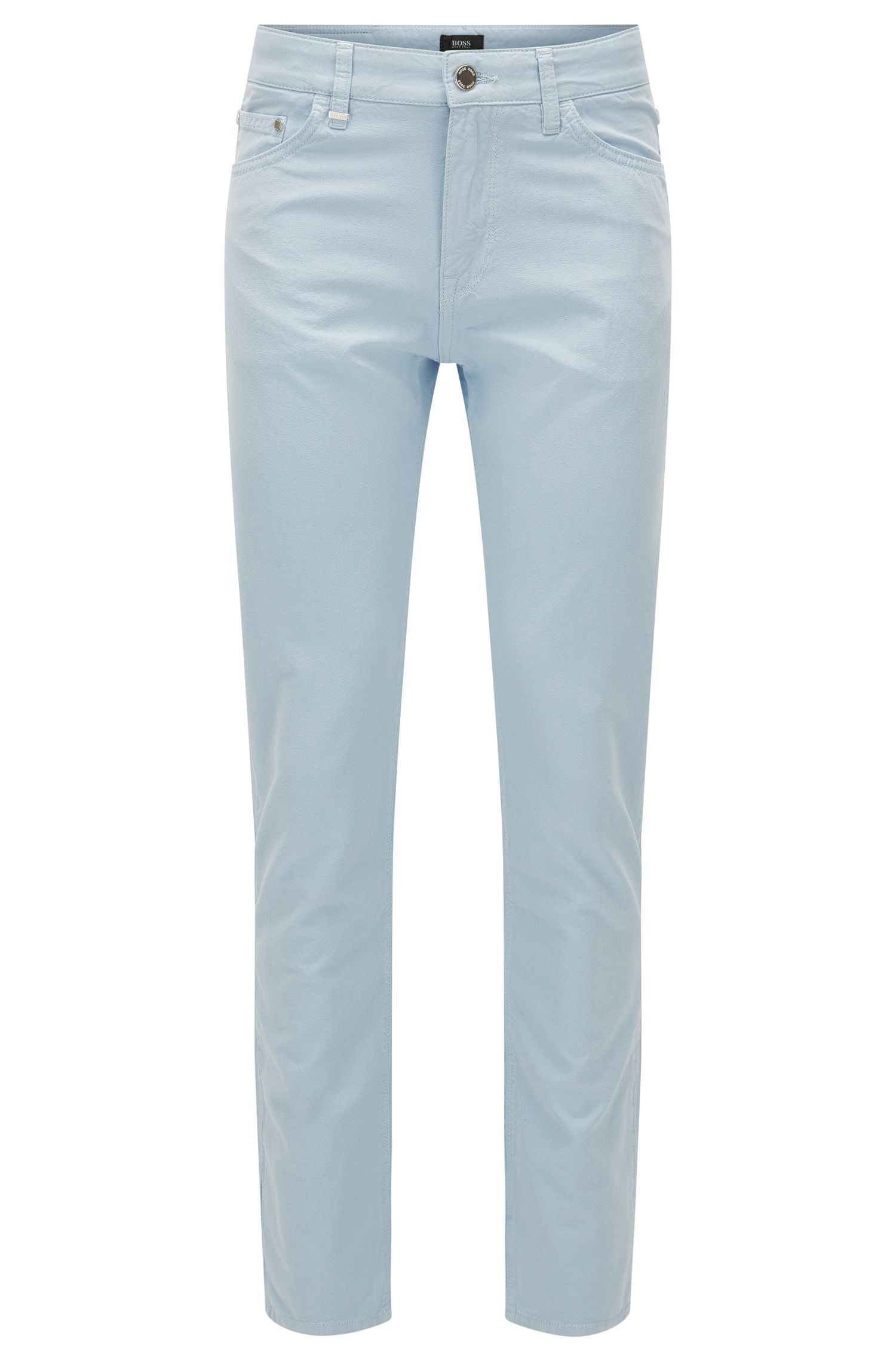 Regular-fit jeans van Italiaanse oxfordstof