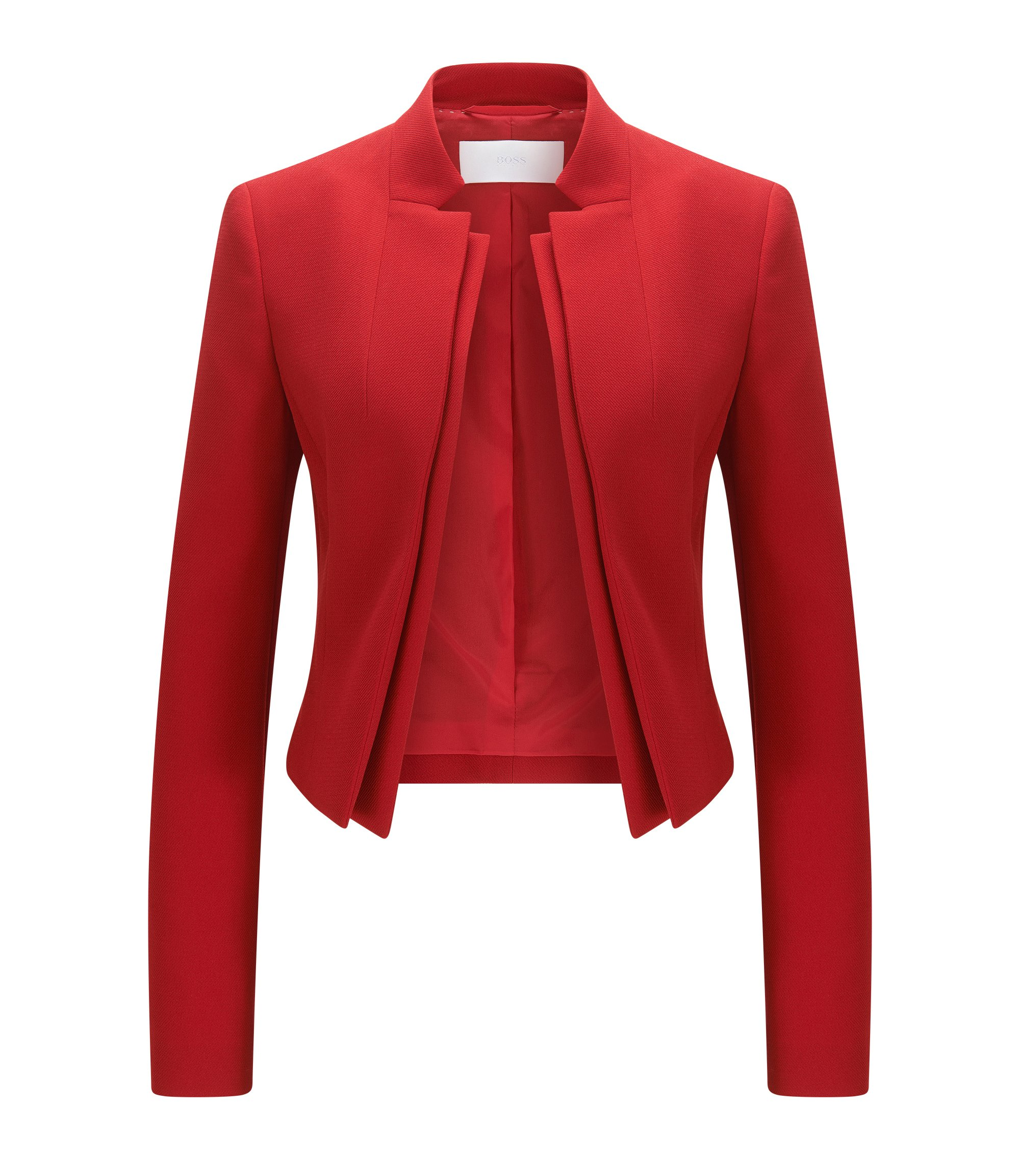 Veste en crêpe Regular Fit à double revers, Rouge