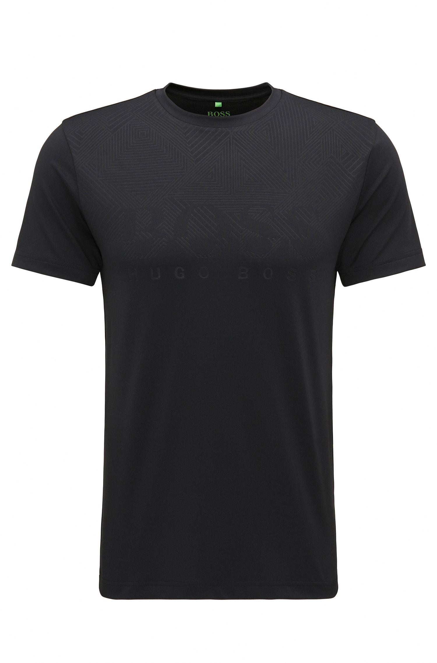 T-shirt slim fit in tessuto tecnico elasticizzato
