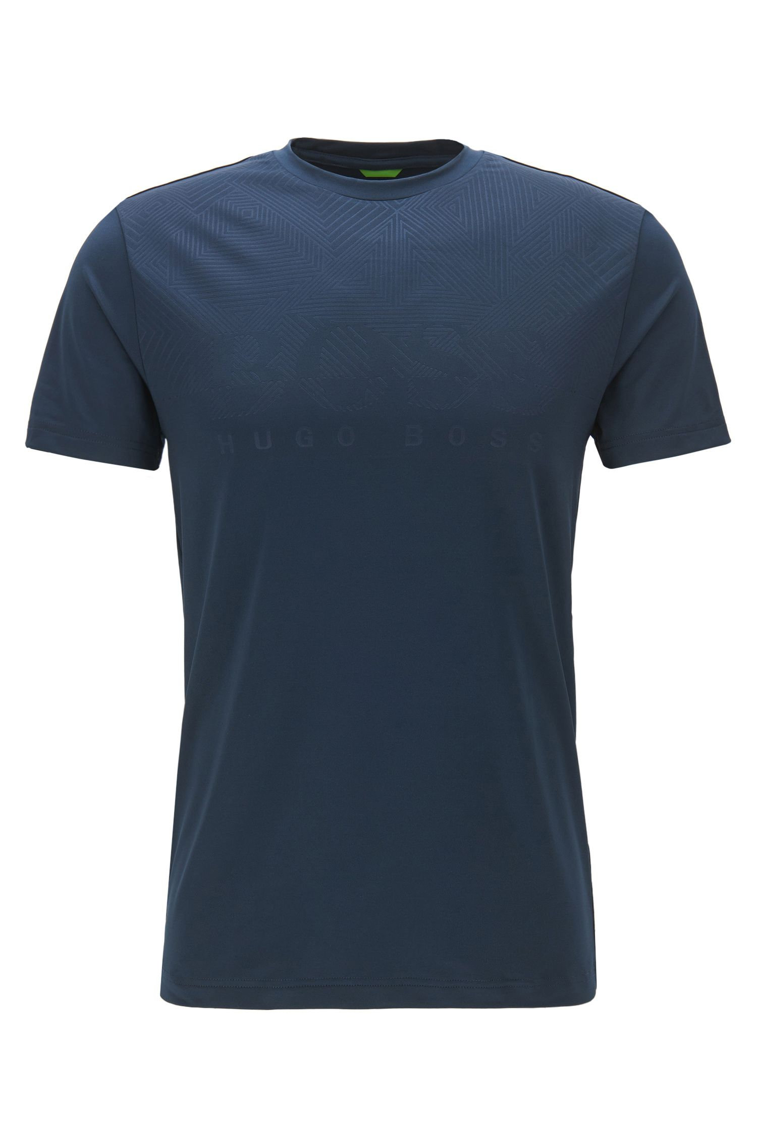 Slim-Fit T-Shirt aus elastischem Material-Mix