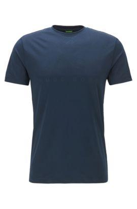 Slim-fit T-shirt van technisch stretchmateriaal, Donkerblauw