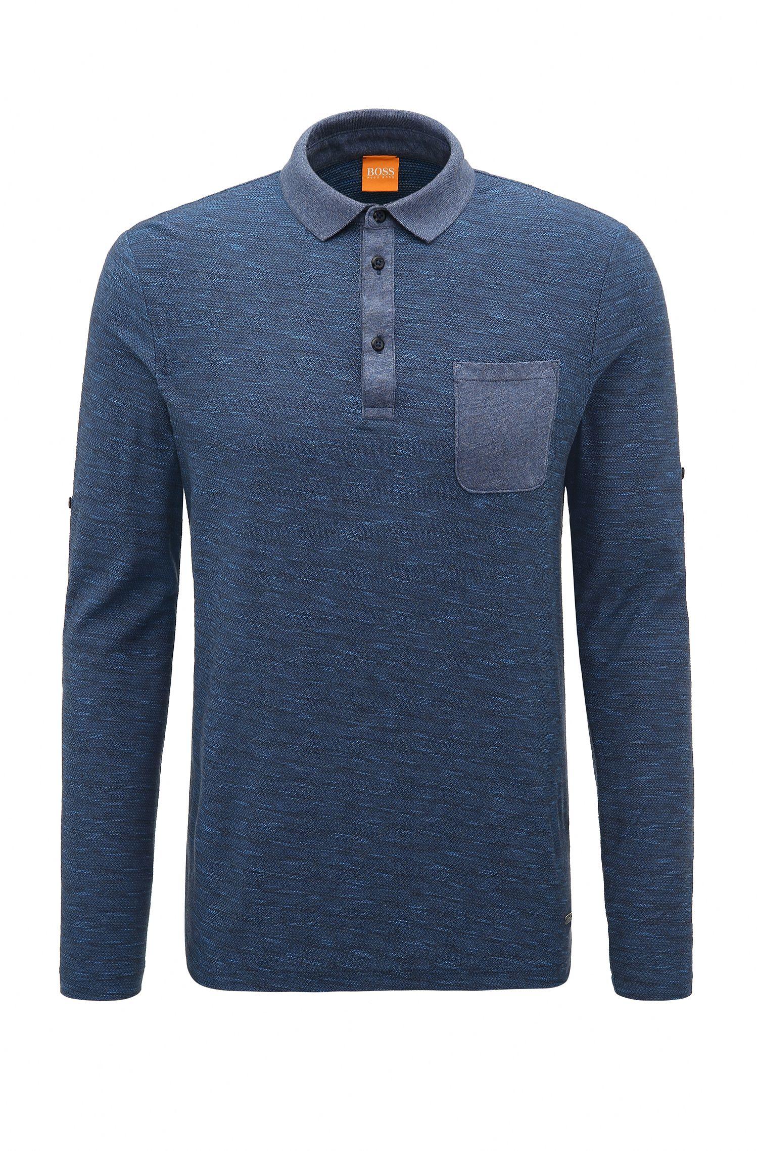 Relaxed-Fit Poloshirt aus Baumwolle mit fixierbaren Ärmeln