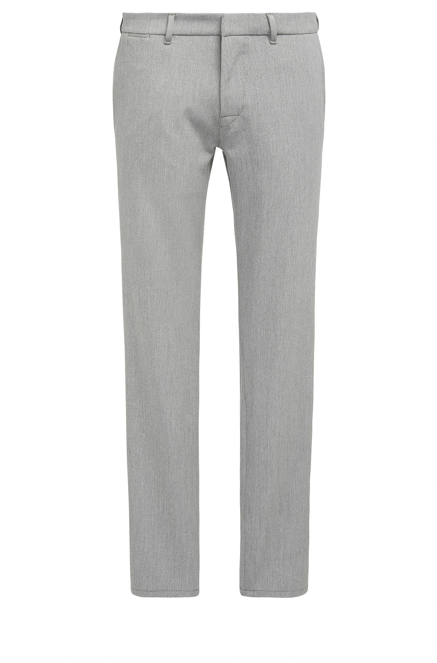 Pantalon Slim Fit en twill stretch orné de surpiqûres