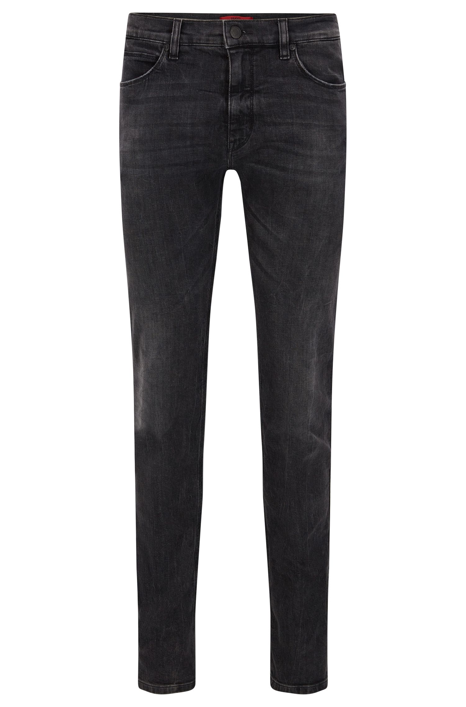 Slim-fit jeans met stonewashed effect