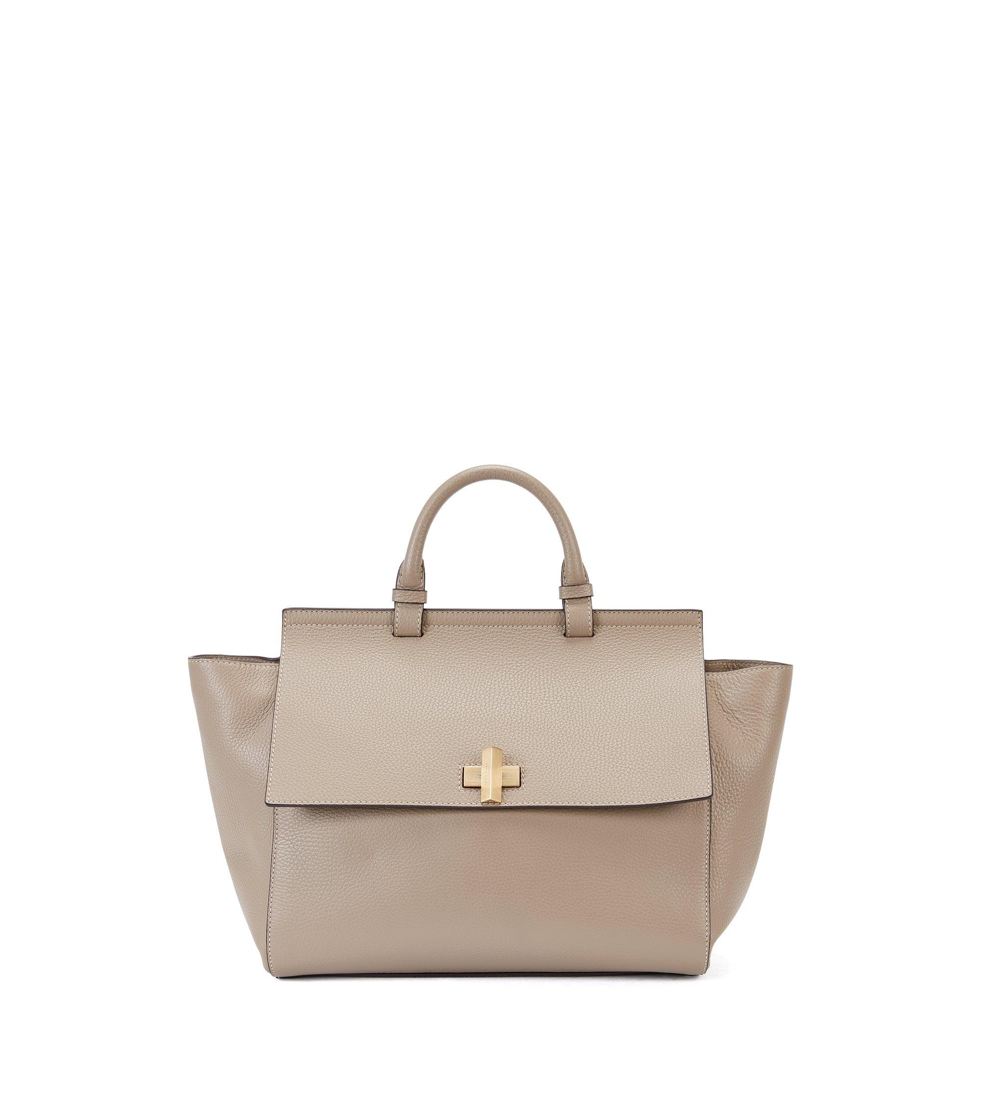 BOSS Bespoke Soft Bag aus Leder , Beige