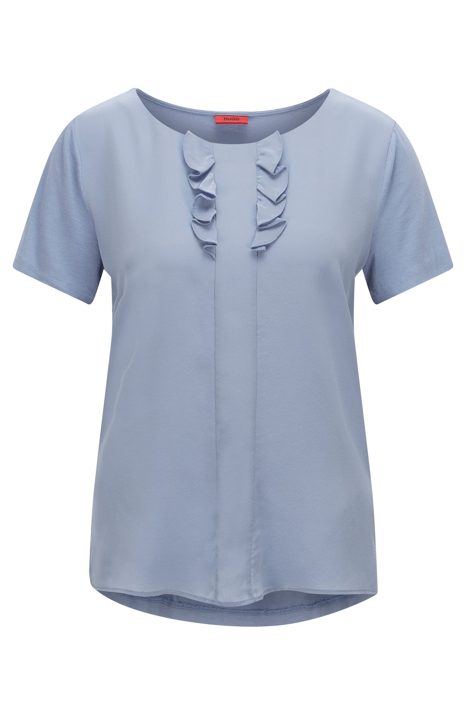 Relaxed-fit T-shirt with silk detail