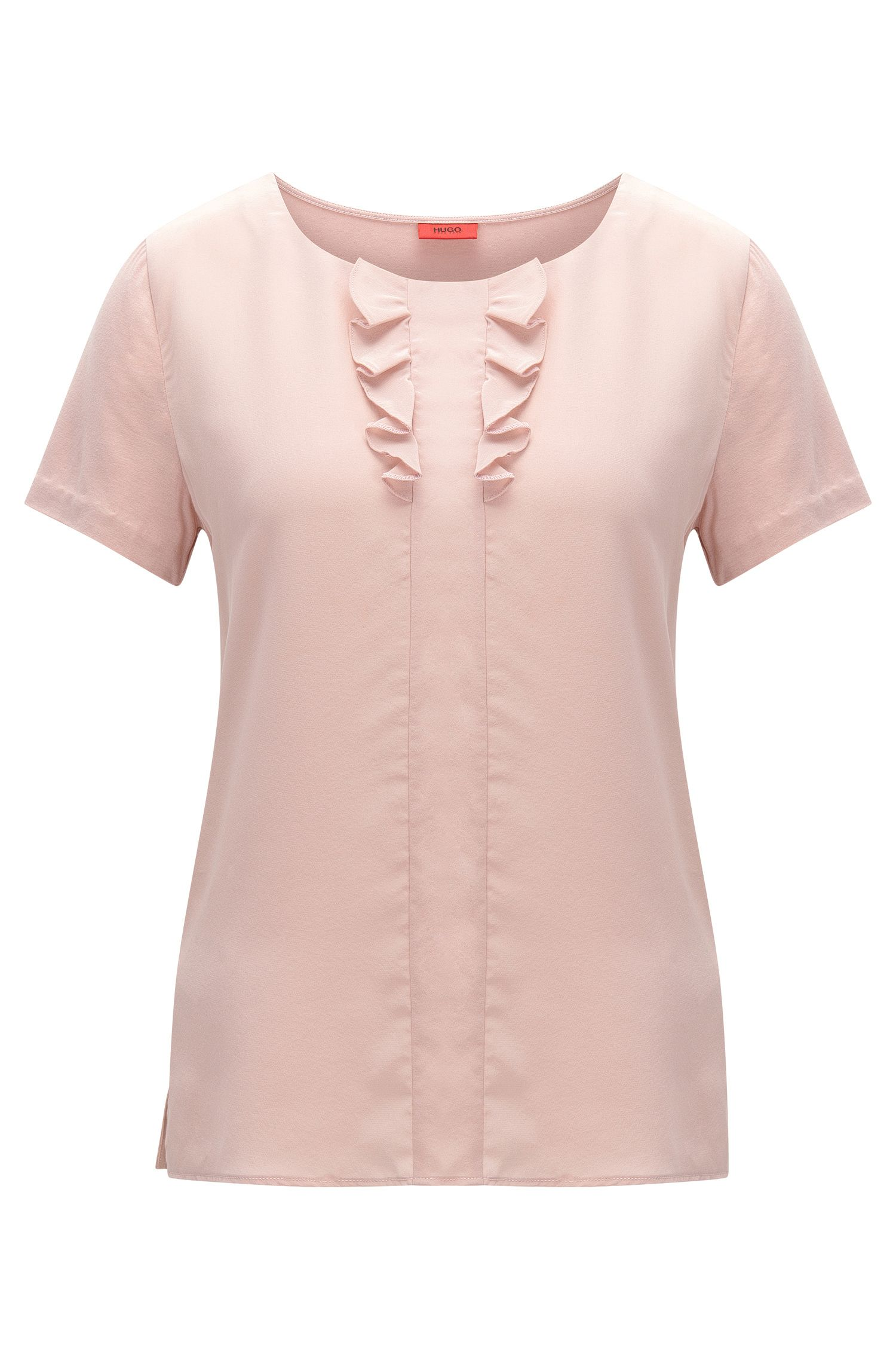 T-shirt relaxed fit con dettaglio in seta