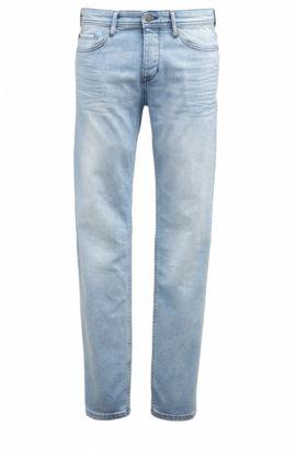 Tapered-fit jeans van red-cast denim, Blauw