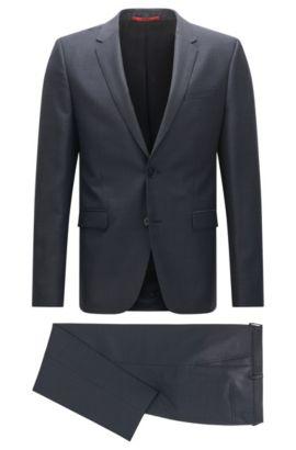 Costume Slim Fit original en laine vierge, Bleu foncé