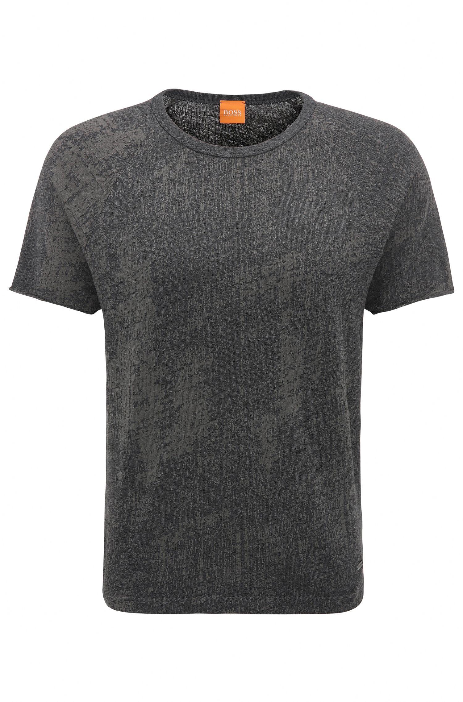 Relaxed-Fit T-Shirt aus Baumwoll-Jacquard