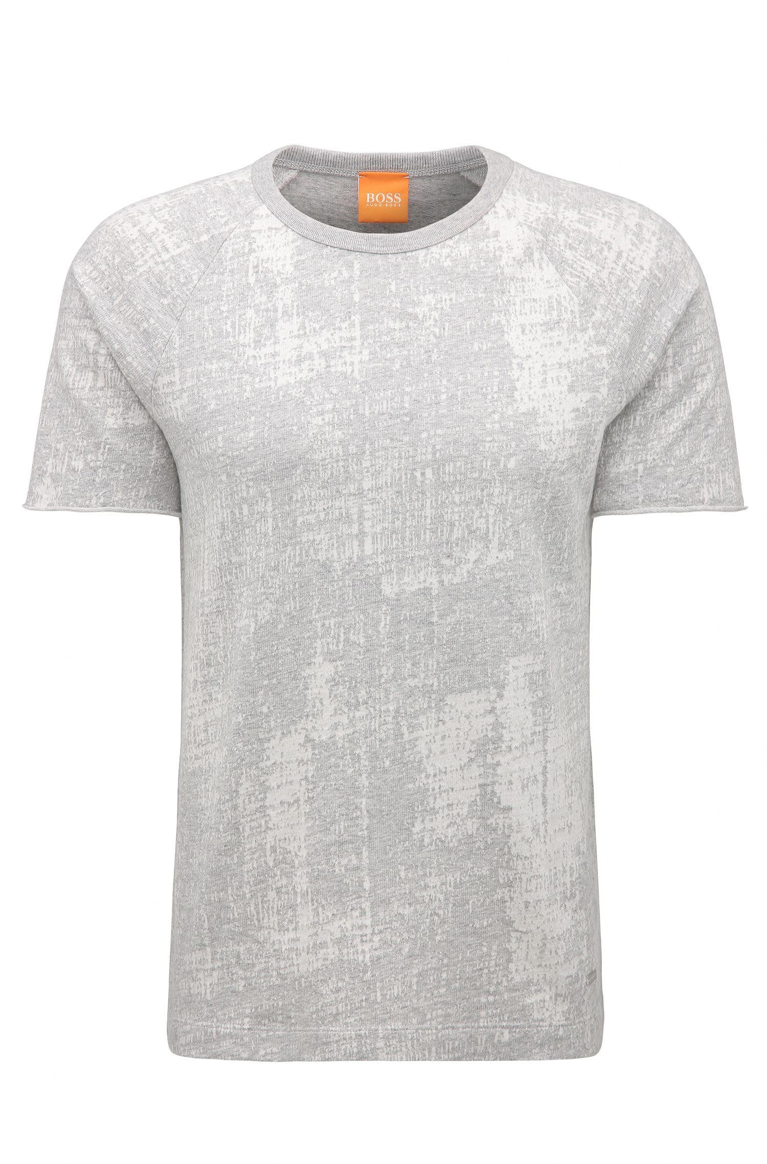 Relaxed-fit T-shirt van jacquardkatoen