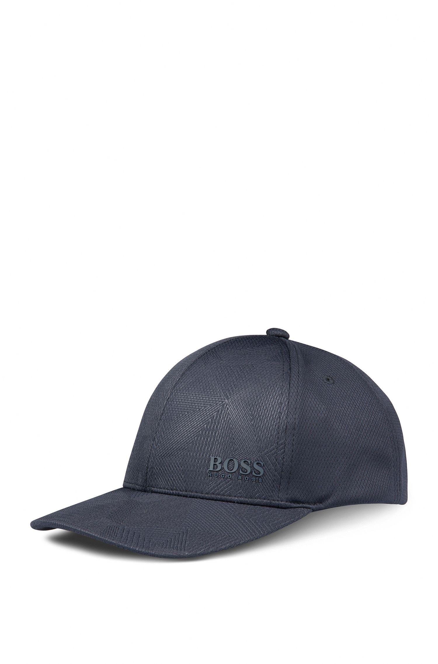Baseball Cap aus Material-Mix mit Wabenstruktur