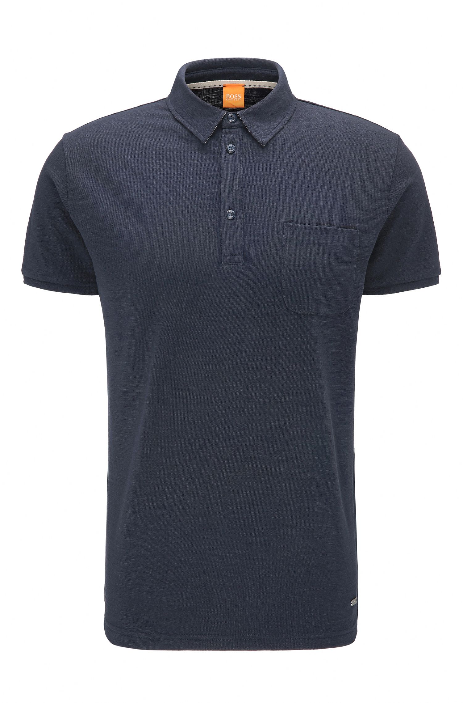 Polo Relaxed Fit en jersey single effet flammé