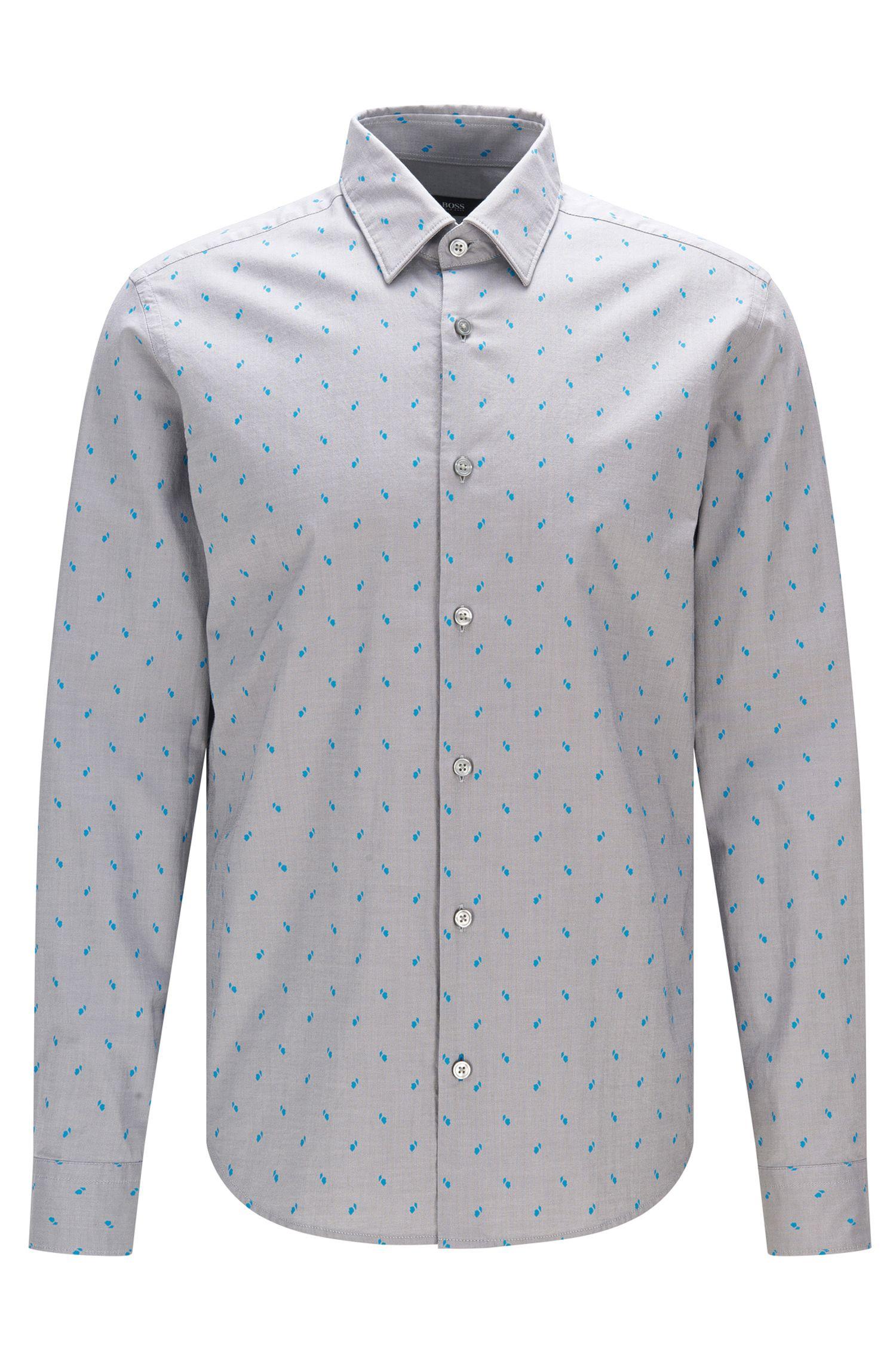 Regular-fit Oxfordoverhemd met abstracte print