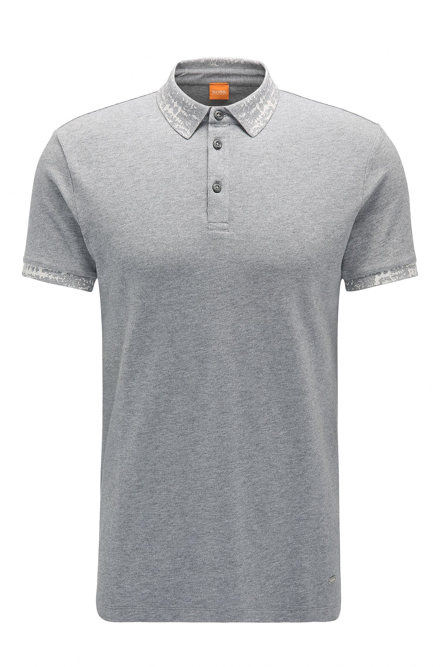 Regular-fit poloshirt van stretchkatoen