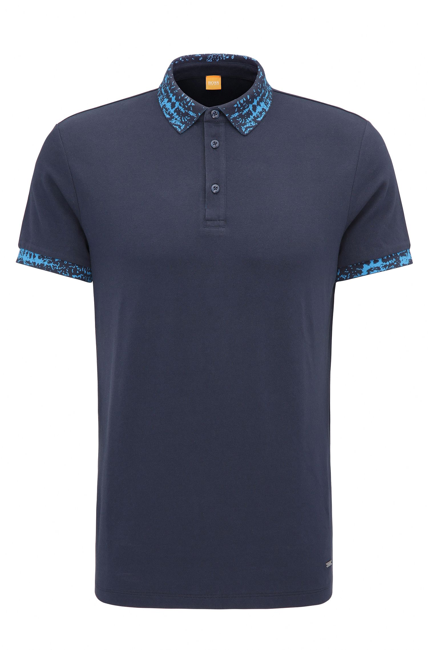 Polo Regular Fit en coton stretch