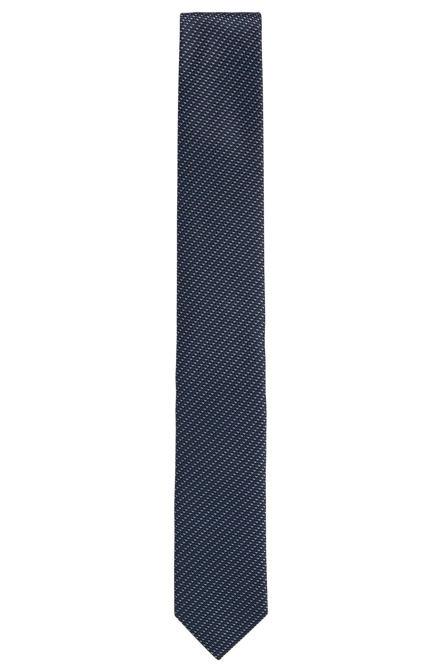 Cravatta in seta con microdisegno intricato