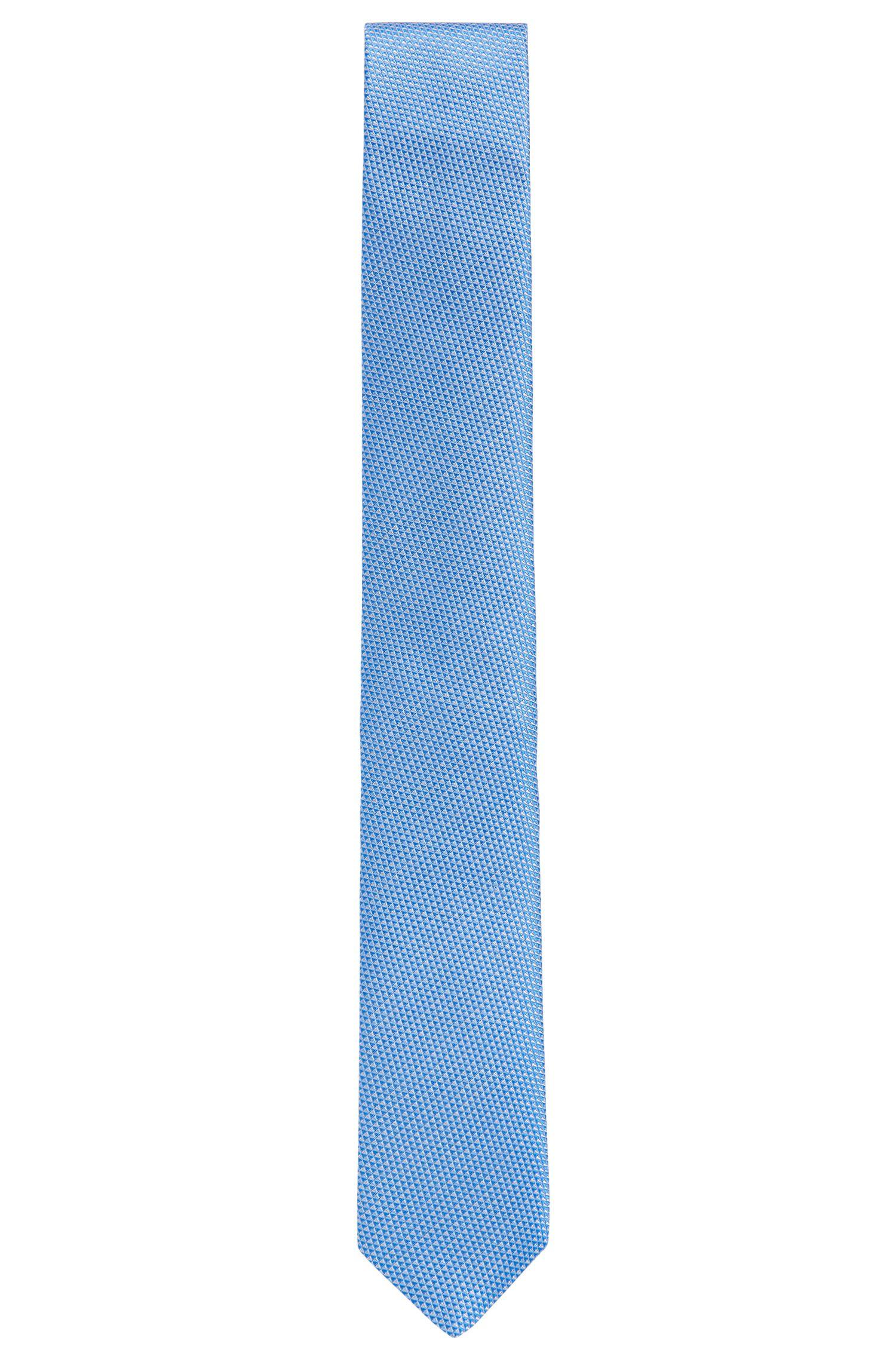 Zijden stropdas met een gedetailleerd microdessin