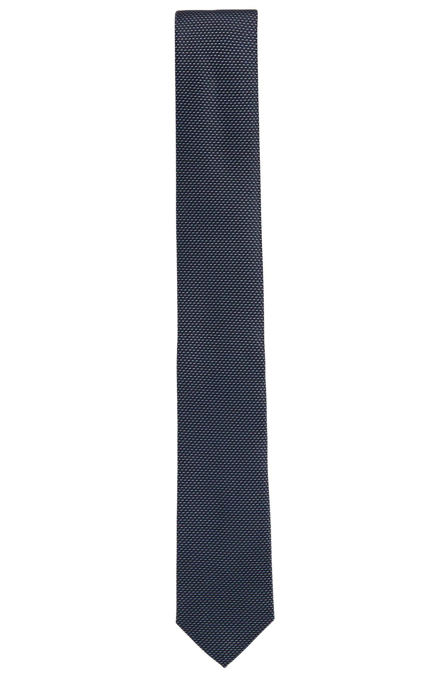 Corbata de seda con microestampado de dos tonos
