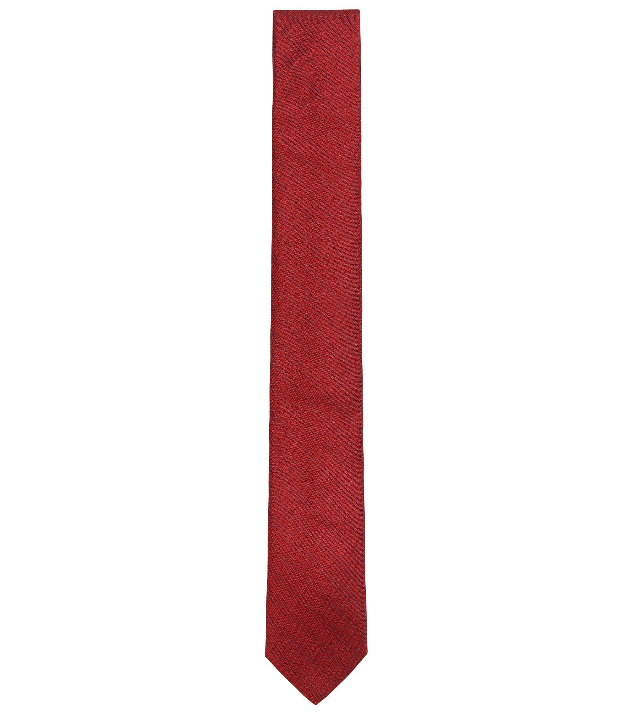 Cravate jacquard en soie ornée d'une texture riche en détails, Rouge