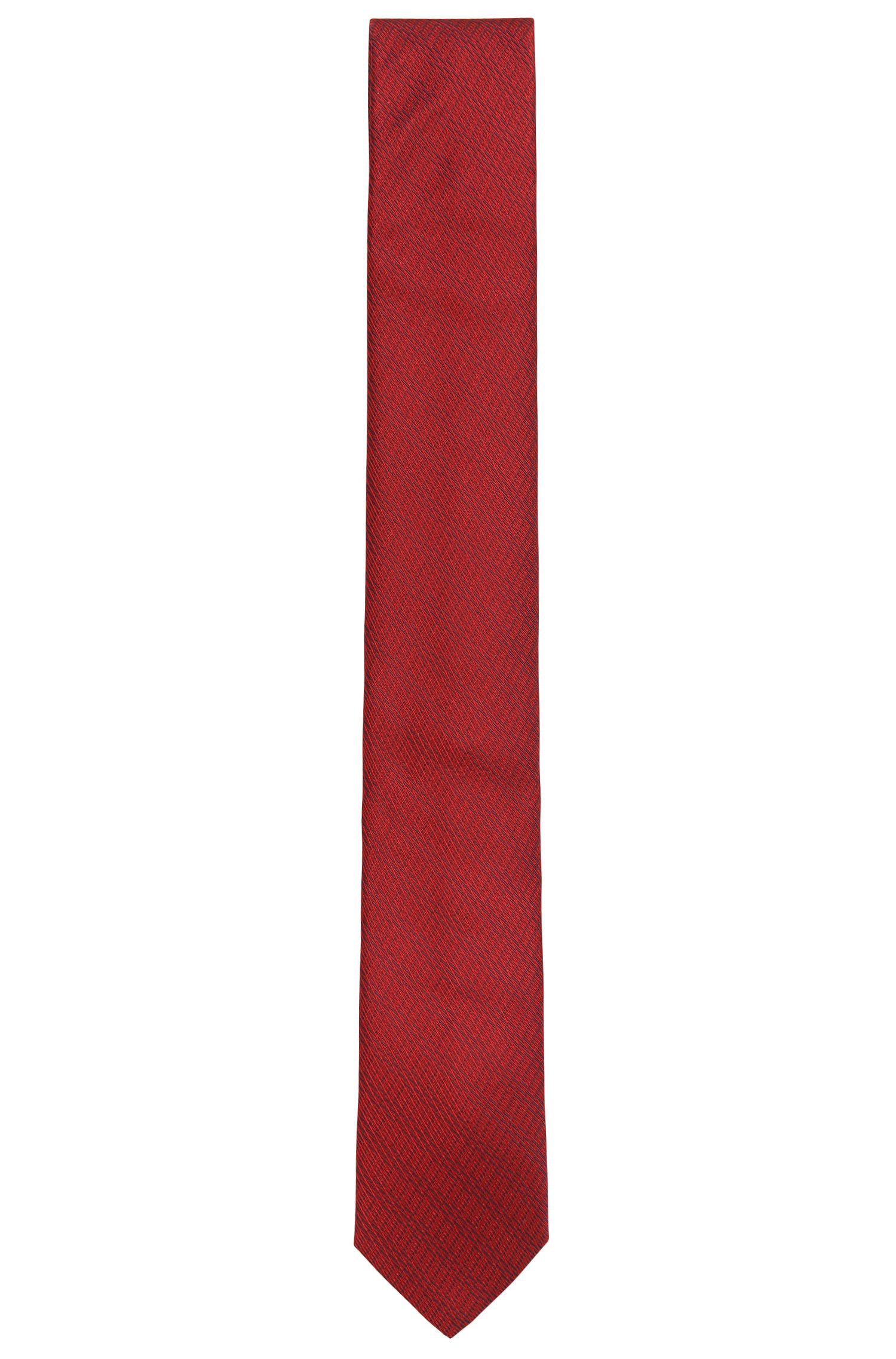 Silk jacquard tie with detailed structure