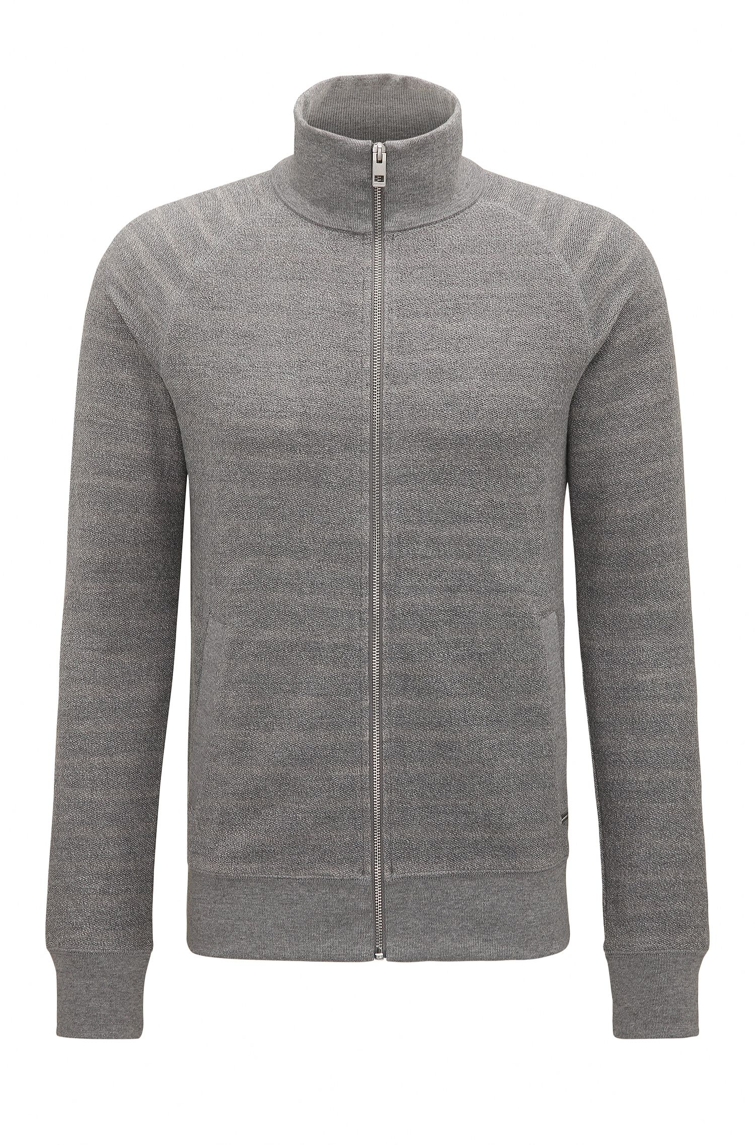 Regular-fit zip-through sweatshirt in French terry